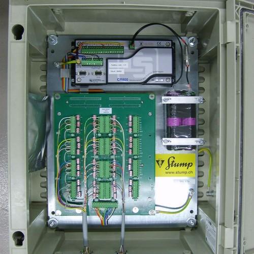Datenlogger mit Multiplexer für Thermistorenketten und eingebautem Lithium-Batteriepack.