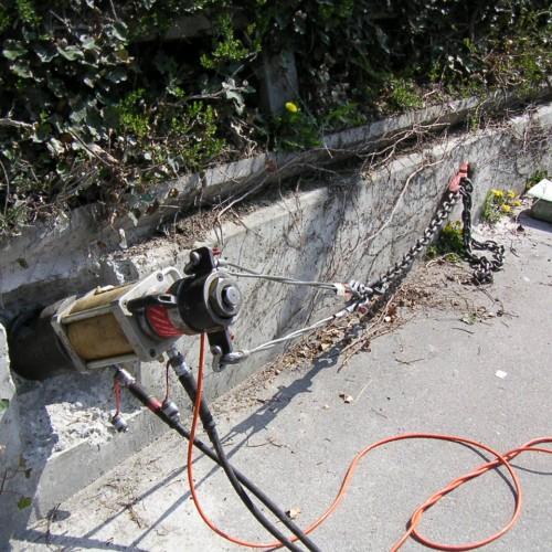 Anker-Kontrolle mit Sicherung der Spanngarnitur