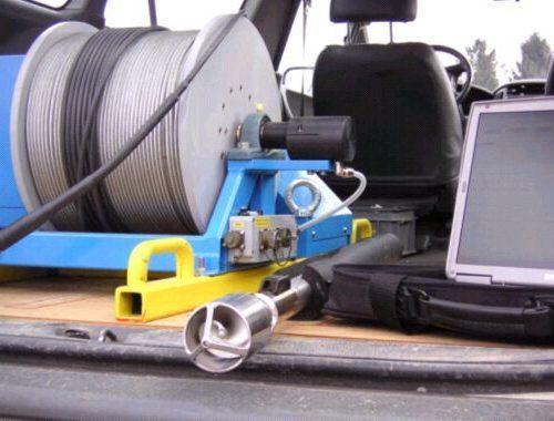 Flowmeter mit Seilwinde